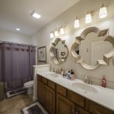 Master bathroom of a custom Abbington by Design Homes & Development.