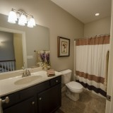 Custom bathroom by Design Homes. Located in Soraya Farms.