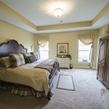 Custom master bedroom by Design Homes. Located in Soraya Farms.