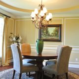 Custom dining room of 1601 Wisteria by Design Homes & Development.