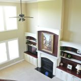 Custom great room of 1601 Wisteria by Design Homes & Development.