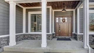 The porch of the Sierra II in Cypress Ridge by Design Homes