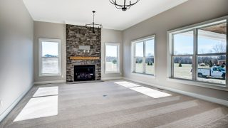 The great room of the Sierra II in Cypress Ridge by Design Homes