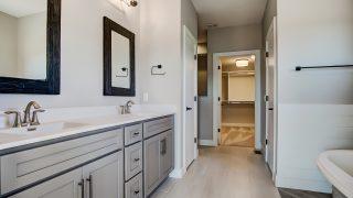 The master bath of the Sierra II in Cypress Ridge by Design Homes