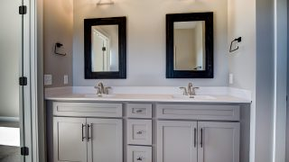 The master bath of the Sierra II in Cypress Ridge by Design Homes