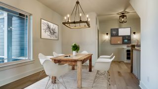 The dining room of the Sierra II in Cypress Ridge by Design Homes