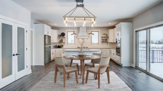 The breakfast nook of the Triple Crown in Savannah Farms by Design Homes