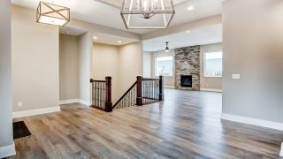 The Living Area of the Oakwood in Soraya Farms by Design Homes