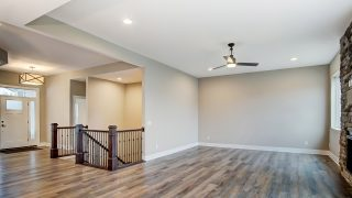 The Great Room of the Oakwood in Soraya Farms by Design Homes