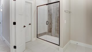 The Master Bath of the Oakwood in Soraya Farms by Design Homes