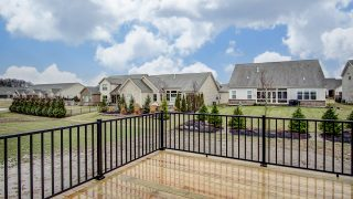 The Deck of the Oakwood in Soraya Farms by Design Homes