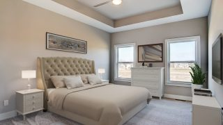 Master Bedroom of the Brooklyn in Bridle Creek Ranch by Design Homes