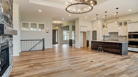 The Great Room of the Anna in Cypress Ridge by Design Homes