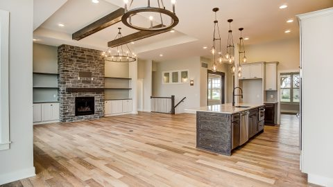 The Living Area of the Anna in Cypress Ridge by Design Homes