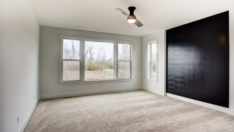 The Master Bedroom of the Anna in Cypress Ridge by Design Homes