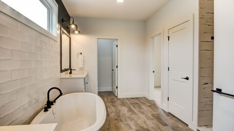 The Master Bath of the Anna in Cypress Ridge by Design Homes