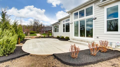 The Patio of the Anna in Cypress Ridge by Design Homes
