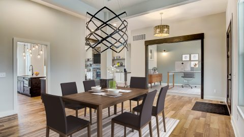 The Dining Room of the Anna in Cypress Ridge by Design Homes