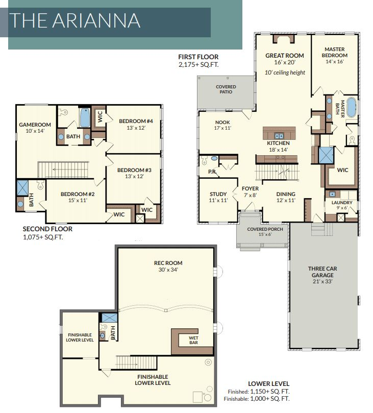 The Arianna a custom home in Saddle Creek built by Design Homes