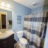 Bathroom of 2406 Brown Bark by Design Homes custom home builder.