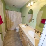 Master bathroom of 2406 Brown Bark by Design Homes custom home builder.
