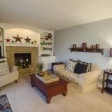 Family room of 2406 Brown Bark by Design Homes custom home builder.