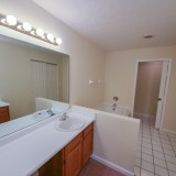 Master bathroom in Fairway Crossing rental by Design Homes.