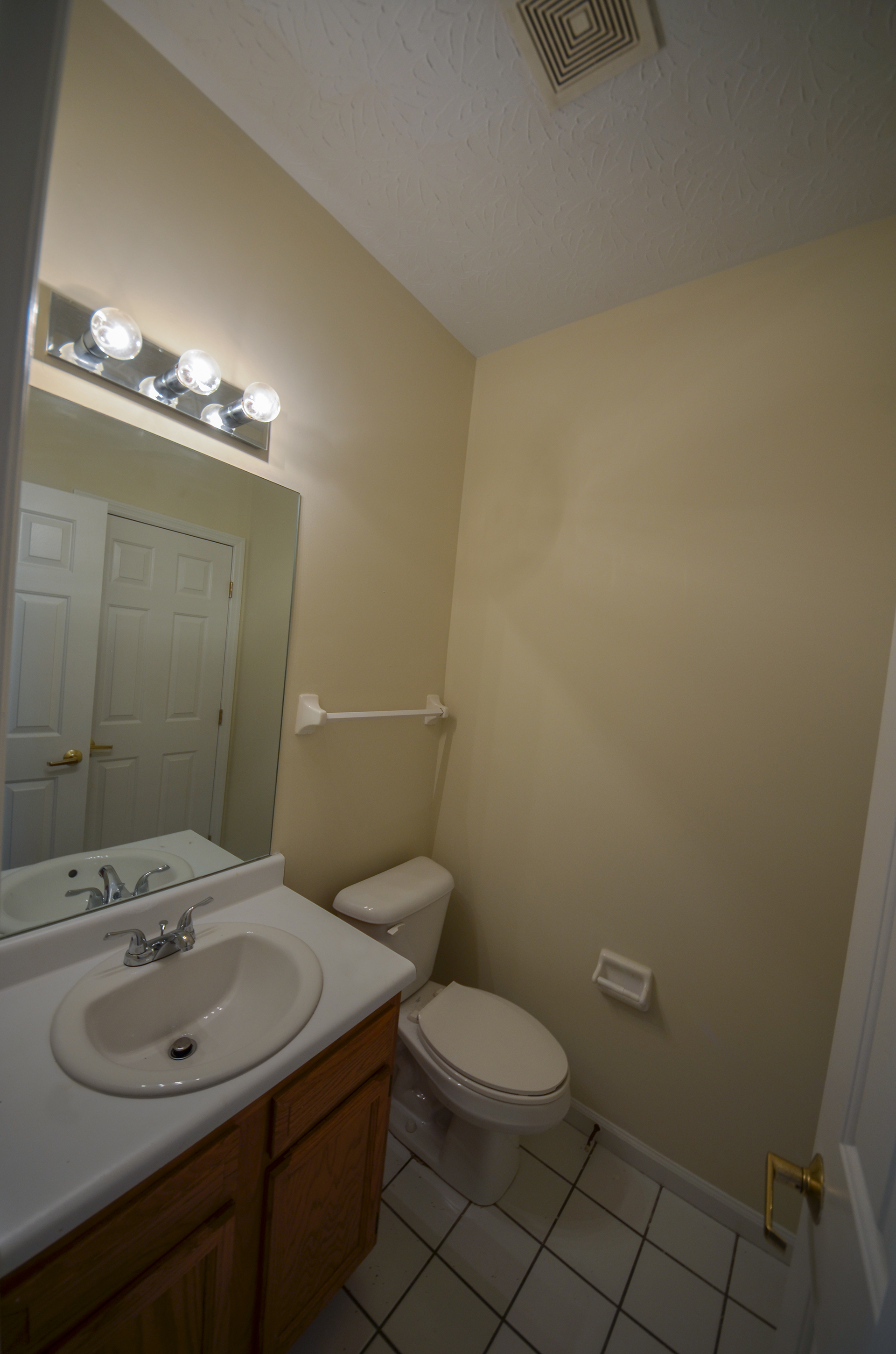 half bathroom in fairway crossing rental by design homes