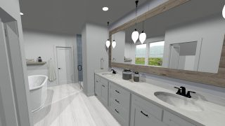 Master Bathroom of the Magnolia in Soraya Farms by Design Homes