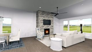 Great Room of the Magnolia in Soraya Farms by Design Homes