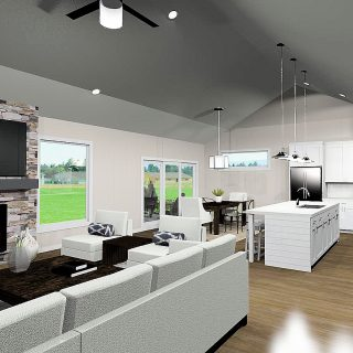 The Bristol Great Room by Design Homes and Development Co. in Soraya Farms