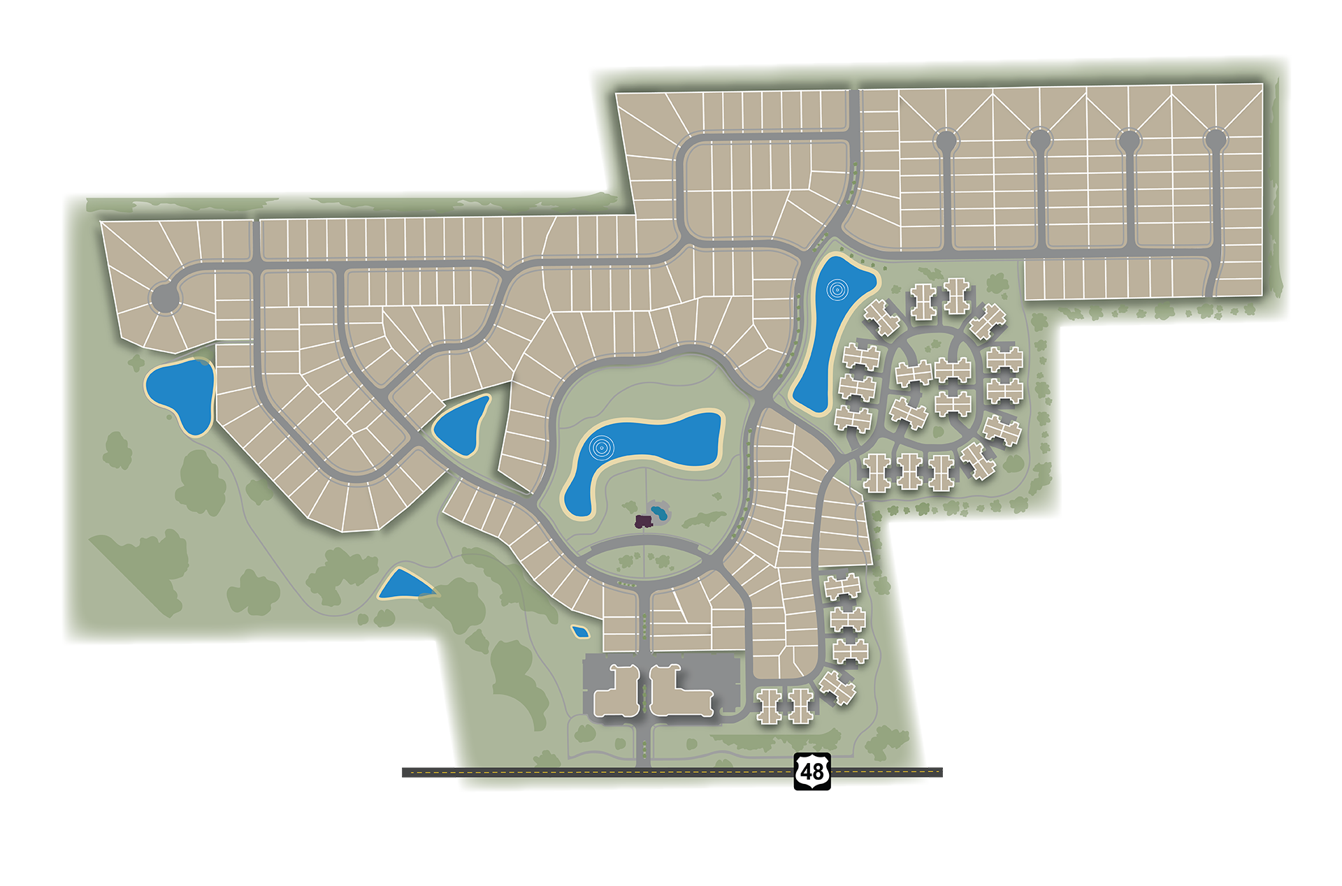 Full community map of Soraya Farms.