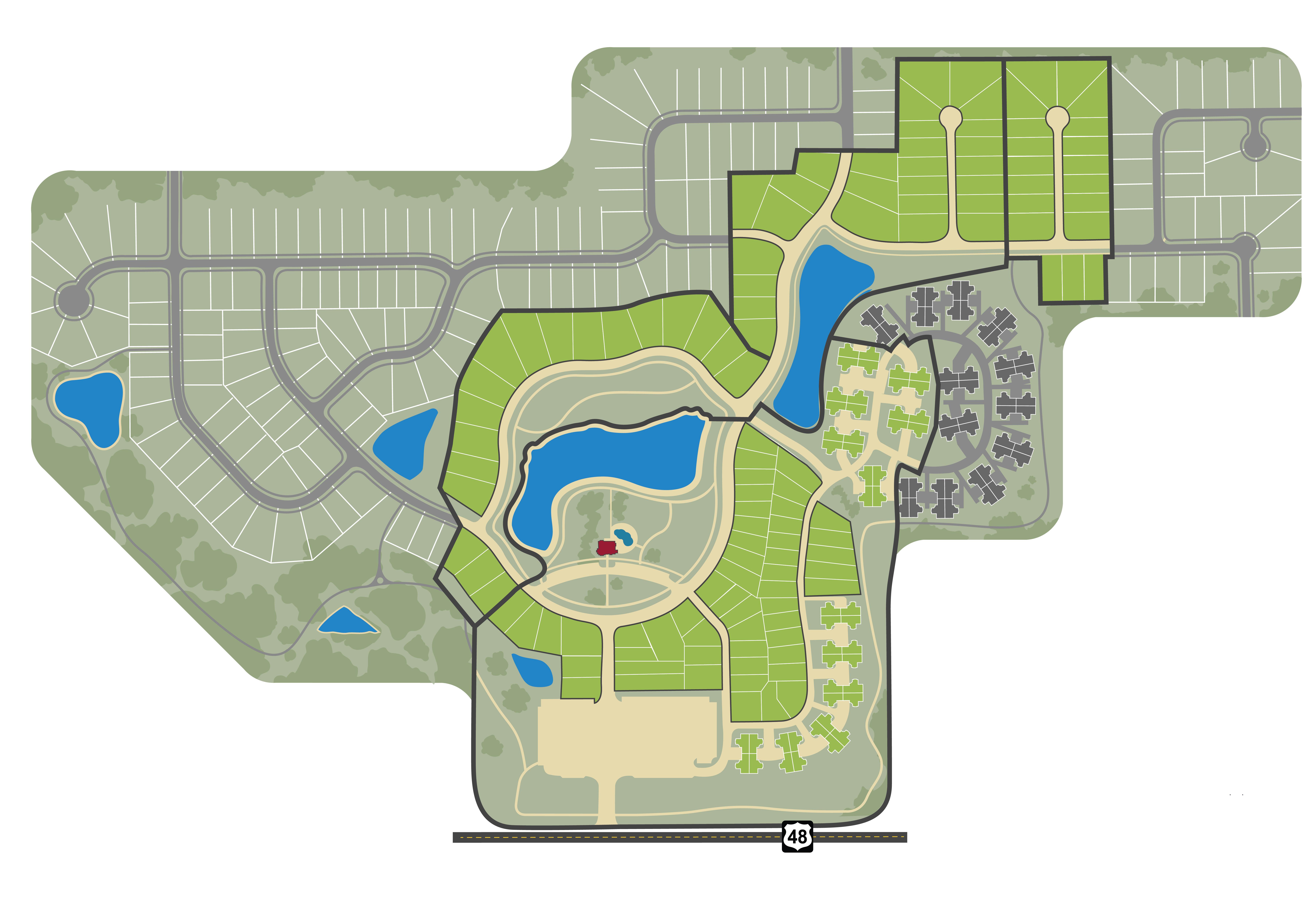 Full community map of Soraya Farms.