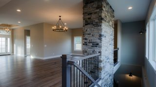 Great Room of the Riverwood in Savannah Farms by Design Homes