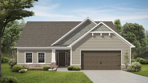 Custom rendering of The Jocelyn by Design Homes and Development.