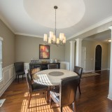 Custom dining room by Design Homes.