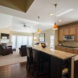 Custom kitchen island by Design Homes.