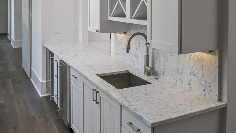 Custom kitchen built by Axon Homes and Design Homes and Development.