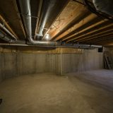 Basement of Beach residence. Listed by Design Homes & Development.