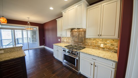 Custom kitchen in Bridle Creek Ranch. Built by Design Homes.