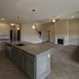 Custom kitchen island by Design Homes.