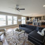 Custom great room by Design Homes.