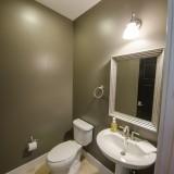 Custom half bath by Design Homes.