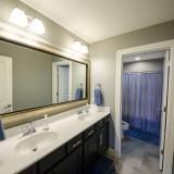 Custom bathroom built by Design Homes.