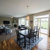 Custom breakfast nook by Design Homes.