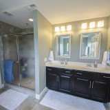 Custom master bath by Design Homes.