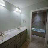 Custom baathroom by Design Homes.
