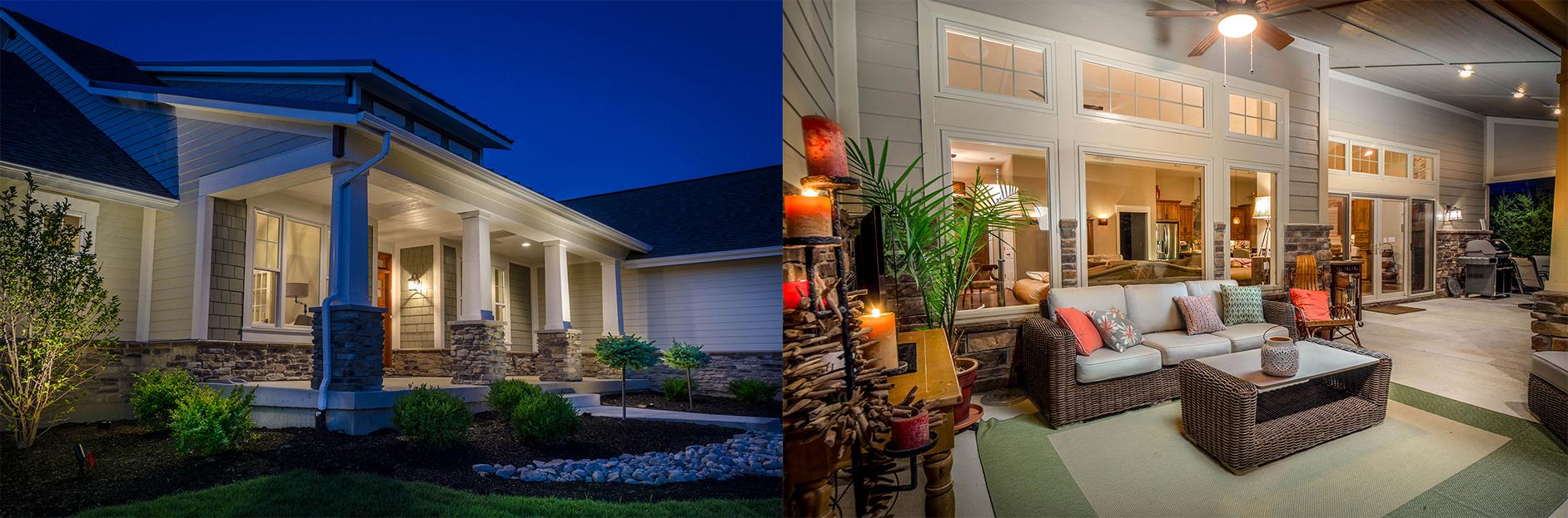 Custom lighting at Design Homes and Development.