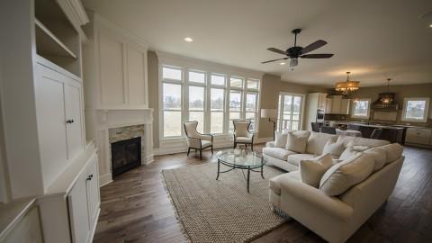 Design Homes and Development custom built great room.