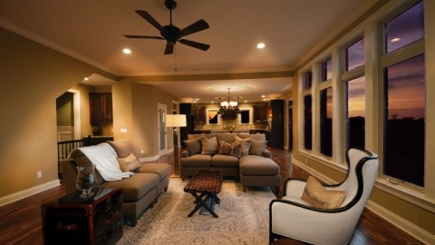 Design Homes and Development custom built great room.